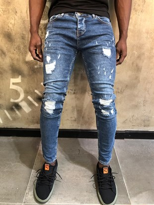 Denim Republic Erkek Jean Slim Fit Likralı Pantolon 4708